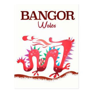 Bangor Wales Dragon poster Postcard