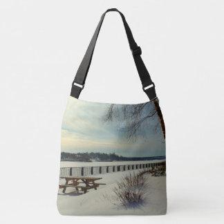 Bangor Waterfront in Bangor, Maine Crossbody Bag