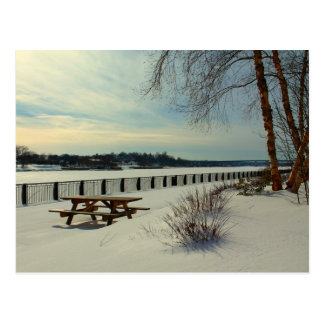 Bangor Waterfront in Bangor Maine Postcard