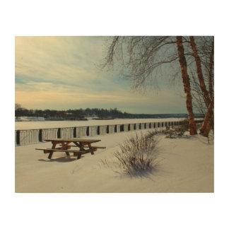 Bangor Waterfront in Bangor, Maine Wood Print