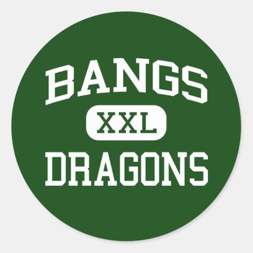 Bangs - Dragons - Bangs High School - Bangs Texas Sticker