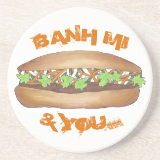 Banh Mi & You Pork Sandwich Vietnamese Food Foodie Coaster