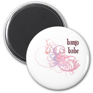 Banjo Babe Magnet