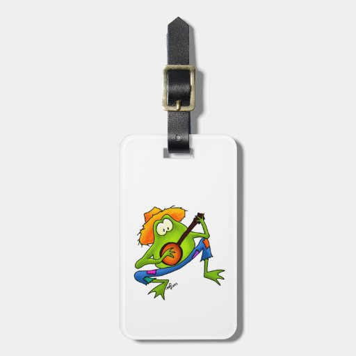 Banjo Bluegrass Frog Tags For Luggage