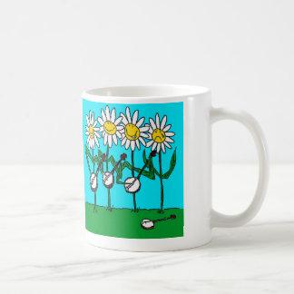 Banjo Daisies Coffee Mug