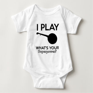 banjo design baby bodysuit