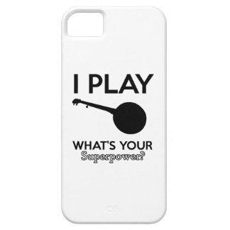 banjo design iPhone 5 cover