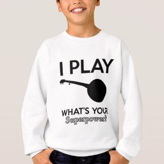 banjo design sweatshirt