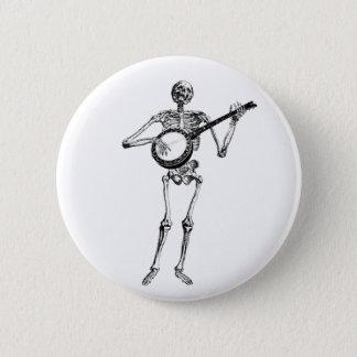 banjo dude 6 cm round badge