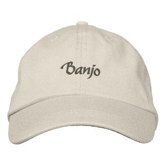 Banjo Embroidered Hat / Dark Text