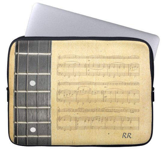 Banjo Fretboard Sheet Music Neoprene Sleeve 14""