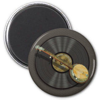 Banjo Music Fridge Magnets
