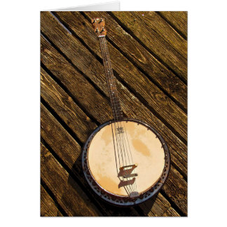 Banjo Musical Instrument Blank Card