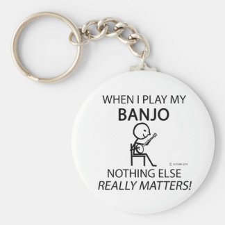 Banjo Nothing Else Matters Key Ring