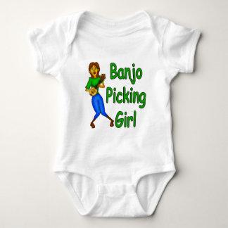Banjo Picking Girl Baby Bodysuit