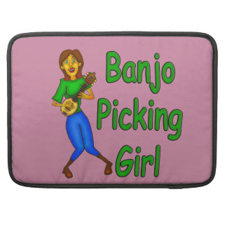 Banjo Picking Girl Sleeve For MacBook Pro