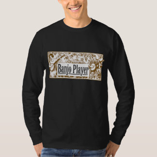 Banjo Player Men's dark long slleve T-Shirt