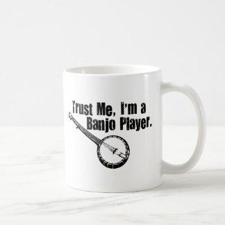 Banjo Player Classic White Coffee Mug