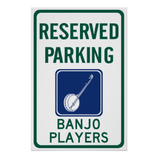 Banjo Players Parking Poster