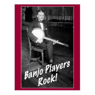 Banjo Players Rock Postcard