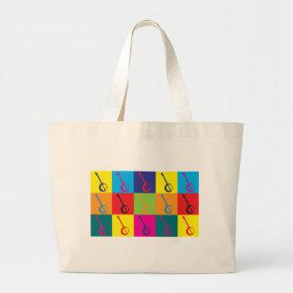 Banjo Pop Art Tote Bags