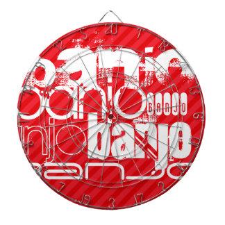 Banjo; Scarlet Red Stripes Dart Boards