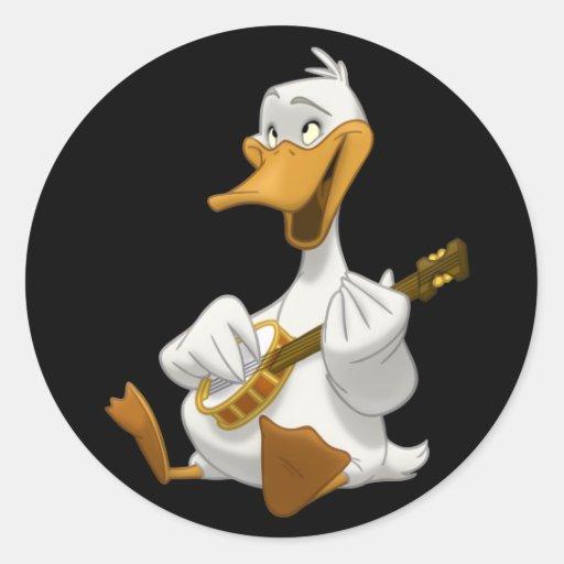 Banjo-Strummin' Duck Stickers