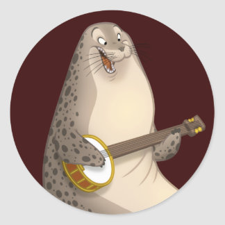 Banjo Strummin' Seal Stickers