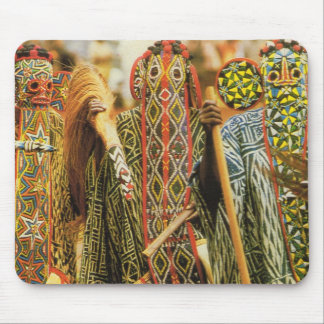 Banjouge Tribal  dancers, Cameroon Mouse Pad