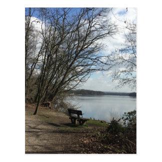 Bank at the lake postcard