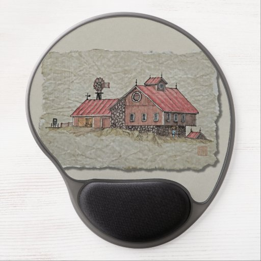 Bank Barn & Windmill Gel Mouse Pads
