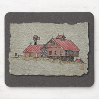 Bank Barn & Windmill Mouse Pad
