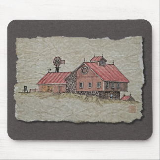 Bank Barn Windmill Mouse Pads