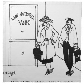 Bank Cartoon 3328 Napkin