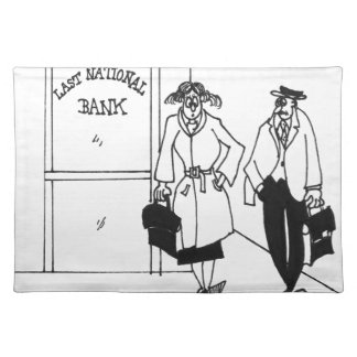 Bank Cartoon 3328 Placemat