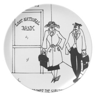 Bank Cartoon 3328 Plate