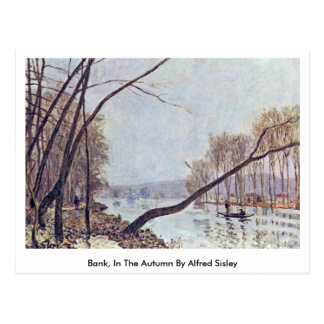 Bank, In The Autumn By Alfred Sisley Postcard