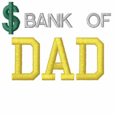 Bank Of Dad Embroidered Shirt