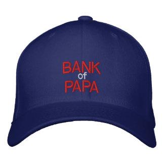 BANK of PAPA - Customizable Cap at eZaZZleMan.com Embroidered Baseball Caps