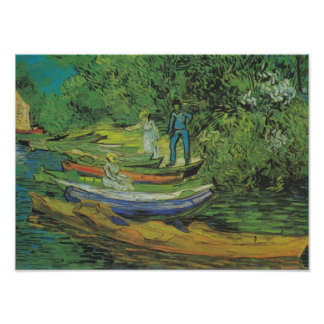 Bank of the Oise at Auvers by Van Gogh Poster