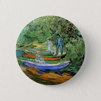 Bank of the Oise at Auvers by Vincent van Gogh 6 Cm Round Badge