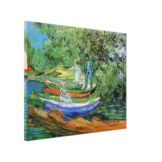 Bank of the Oise at Auvers by Vincent van Gogh Canvas Print