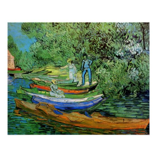 Bank of the Oise at Auvers by Vincent van Gogh Posters