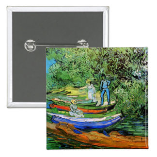 Bank of the Oise at Auvers Vincent van Gogh Pinback Buttons