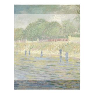 Bank of the Seine by Vincent Van Gogh Flyer Design