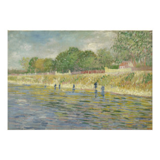 Bank of the Seine by Vincent Van Gogh Photograph