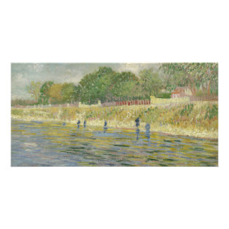 Bank of the Seine by Vincent Van Gogh Custom Photo Card