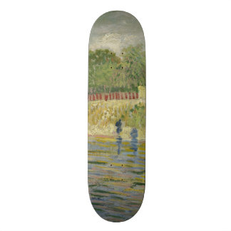 Bank of the Seine by Vincent Van Gogh Skate Board Deck