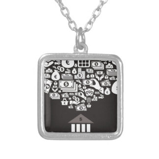 Bank Silver Plated Necklace
