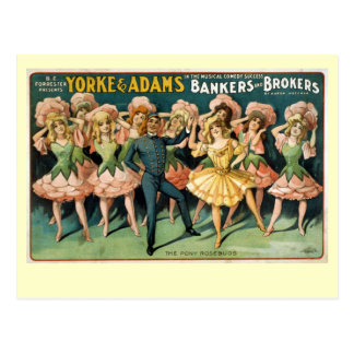 Bankers and Brokers Vintage Theater Poster Postcard